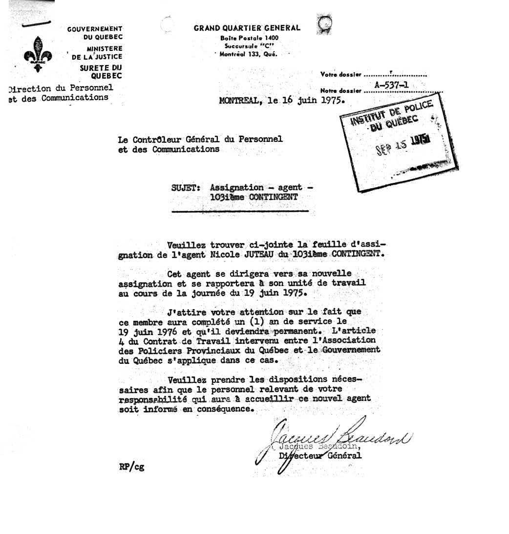 contrat de travail montreal Pionnières Québécoises contrat de travail montreal